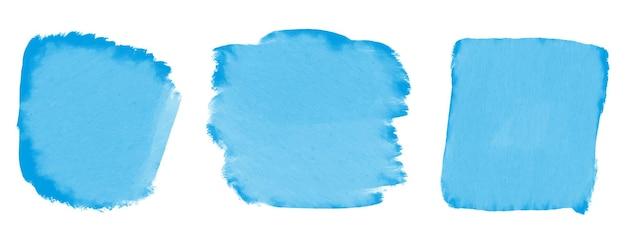 Abstracte blauwe aquarel banner set