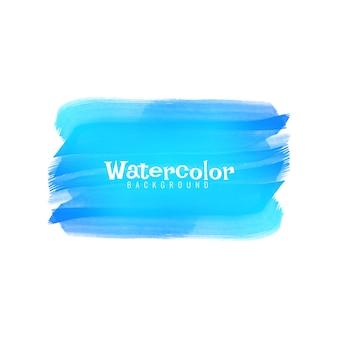 Abstracte blauwe aquarel ontwerp achtergrond