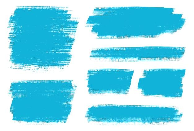 Abstracte blauwe aquarel penseelstreken