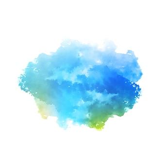 Abstracte blauwe aquarel splash ontwerp achtergrond