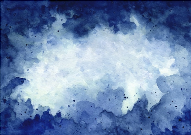 Abstracte blauwe aquarel textuur achtergrond