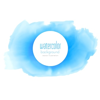 Abstracte blauwe aquarel textuur vector achtergrond