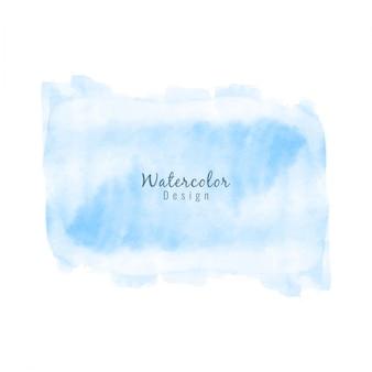 Abstracte blauwe aquarel vlek ontwerp achtergrond