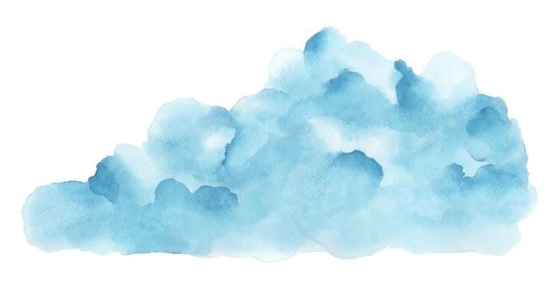 Abstracte blauwe aquarel vlek vorm.