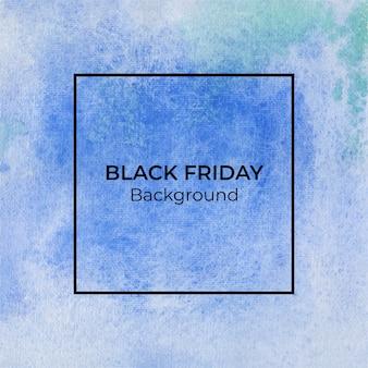 Abstracte blauwe blackfriday aquarel achtergrond
