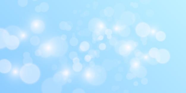 Abstracte blauwe bokehachtergrond