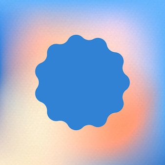Abstracte blauwe cirkelvorm in funky