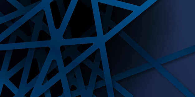Abstracte blauwe diagonale overlappingsachtergrond. heldere marineblauwe dynamische abstracte achtergrond met diagonale lijnen. moderne bedrijfsconceptenachtergrond