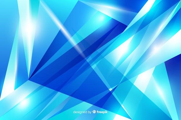 Abstracte blauwe diamant vormen achtergrond