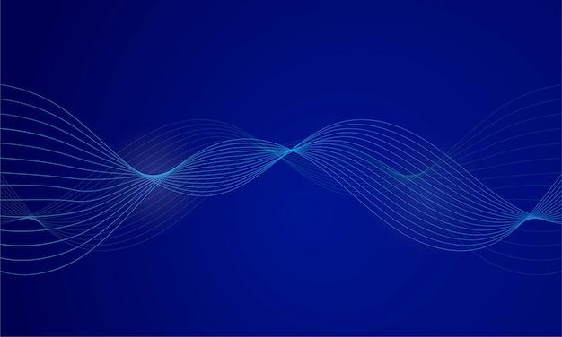 Abstracte blauwe digitale equalizer, geluidsgolf achtergrond