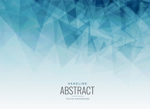 Abstracte blauwe driehoeken fractal achtergrond
