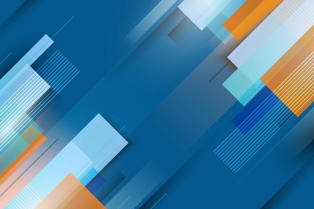 Abstracte blauwe en oranje gradiënt geometrische achtergrond. vector illustratie.