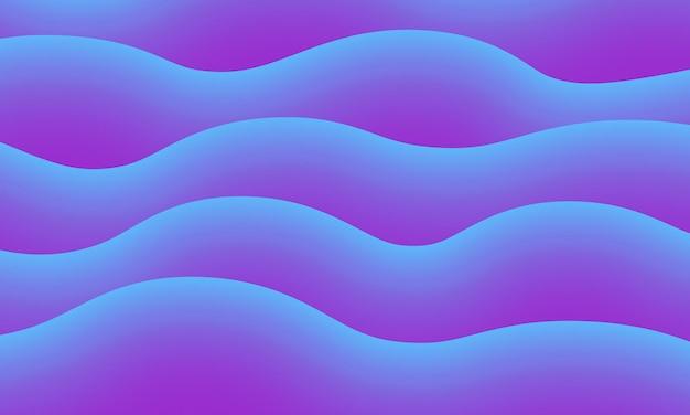 Abstracte blauwe en paarse golf vloeistof achtergrond vector illustratie