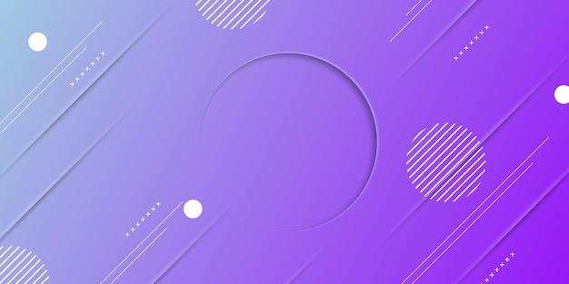 Abstracte blauwe en paarse gradiënttextuur met memphis-elementen. modern ontwerp voor banner