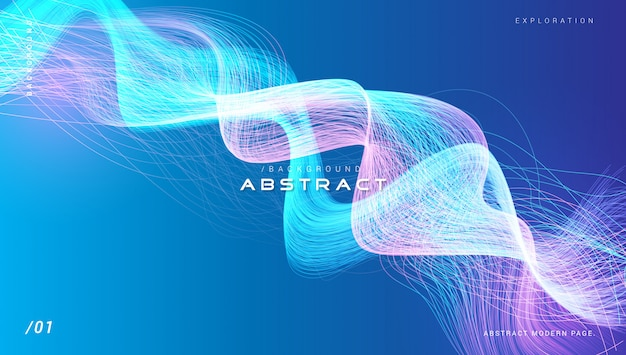 Abstracte blauwe en paarse lichte vezel achtergrond