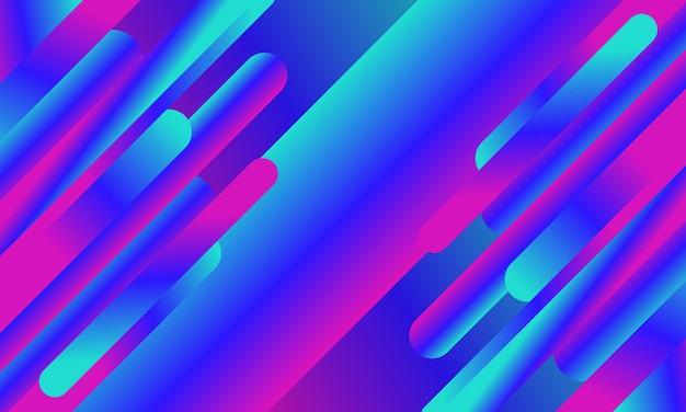Abstracte blauwe en roze gradiëntvormen afgeronde lijnachtergrond. ontwerp voor uw behang.