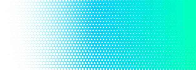 Abstracte blauwe en witte gestippelde bannerachtergrond