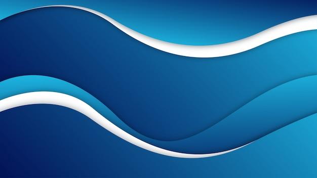 Abstracte blauwe en witte golvende achtergrond