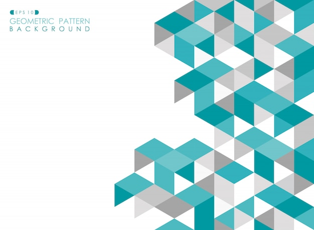 Abstracte blauwe geometrische achtergrond met veelhoekige driehoeken.