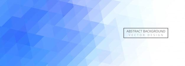 Abstracte blauwe geometrische banner achtergrond