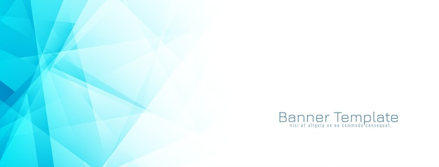 Abstracte blauwe geometrische banner ontwerp vector