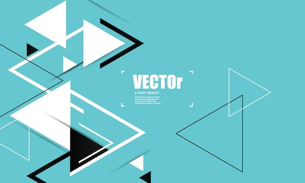 Abstracte blauwe geometrische vectorachtergrond met driehoeken.