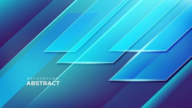 Abstracte blauwe geometrische vormachtergrond