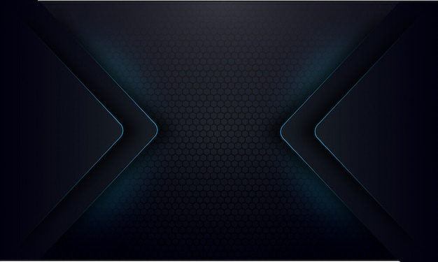 Abstracte blauwe gloedlijn op donkere achtergrond