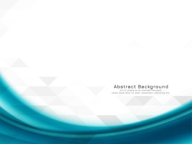 Abstracte blauwe golf op mozaïekachtergrond