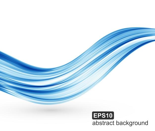 Abstracte blauwe golven achtergrond.