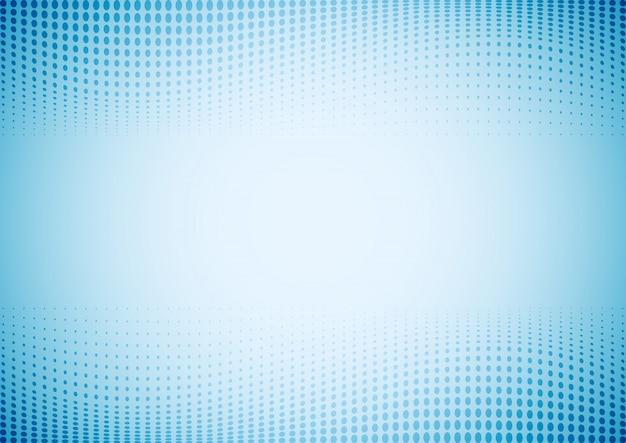 Abstracte blauwe golven stippen patroon halftoon