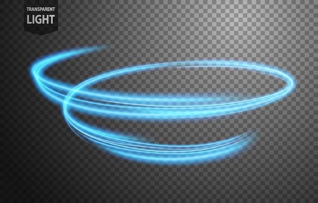Abstracte blauwe golvende lichtlijn