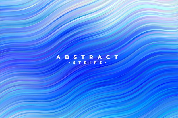 Abstracte blauwe golvende strepenachtergrond
