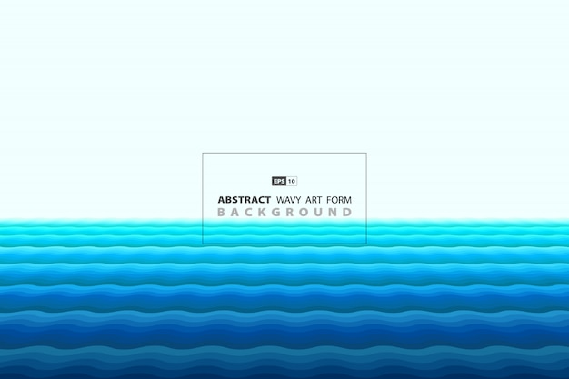 Abstracte blauwe golvende vorm van minimale stijl decoratie achtergrond.