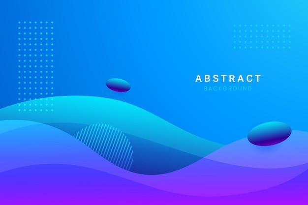 Abstracte blauwe golvende vormenachtergrond