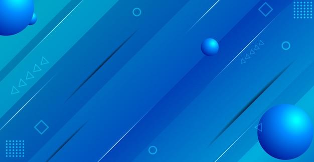 Abstracte blauwe gradiënte geometrische achtergrond