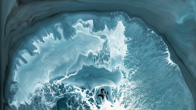 Abstracte blauwe grunge aquarel patroon achtergrond vector