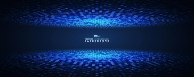Abstracte blauwe halftone futuristische cirkel.