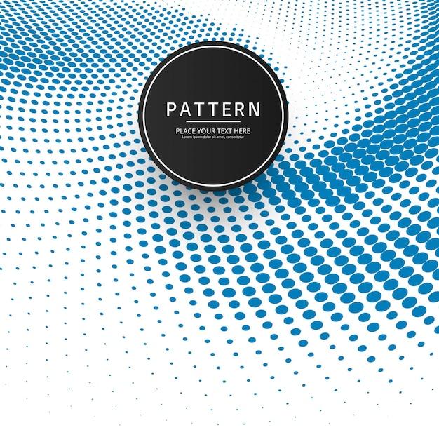Abstracte blauwe halftone patroonachtergrond