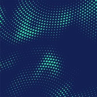 Abstracte blauwe halftone puntenachtergrond