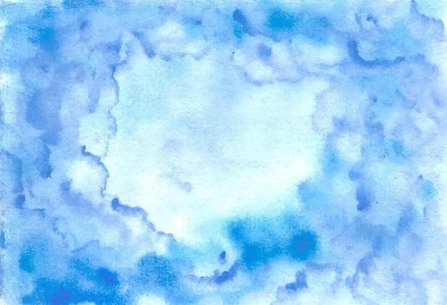 Abstracte blauwe hemel aquarel achtergrond