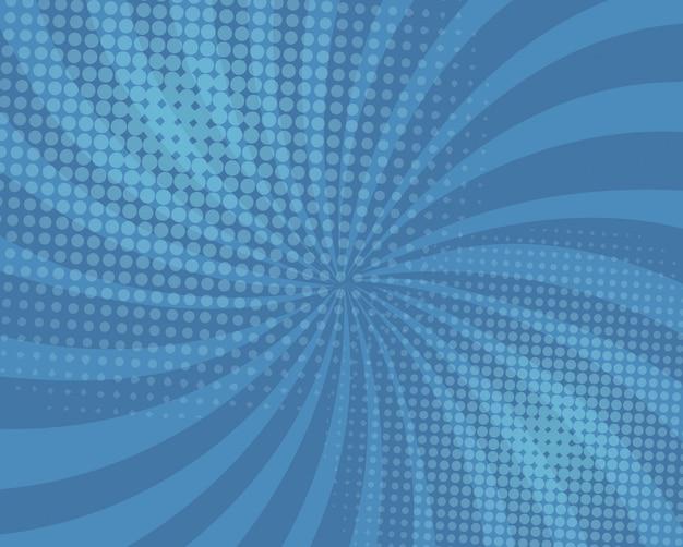 Abstracte blauwe komische achtergrond