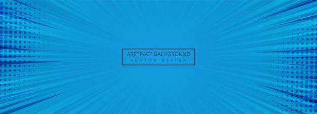 Abstracte blauwe komische bannerachtergrond