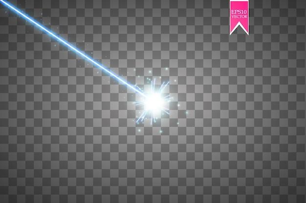 Abstracte blauwe laserstraal