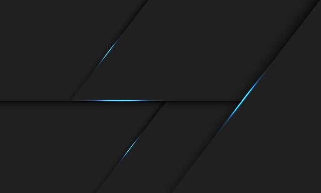 Abstracte blauwe lichte lijnschaduw op donkergrijze ontwerp moderne futuristische technologie illustratie als achtergrond.
