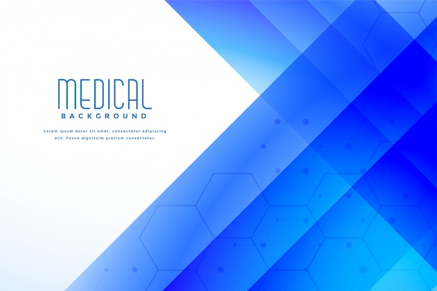 Abstracte blauwe medische gezondheidszorgachtergrond