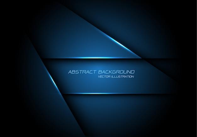 Abstracte blauwe metaaloverlapping ontwerp moderne futuristische technologieachtergrond.