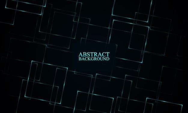 Abstracte blauwe neon rechthoeken achtergrond vector illustratie