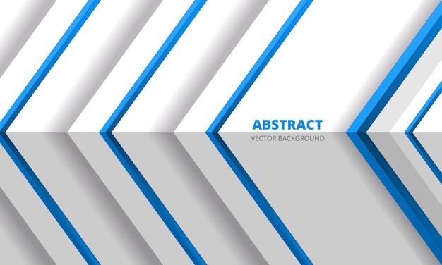 Abstracte blauwe pijlenrichting op witte futuristische moderne ontwerpd achtergrond met hoek