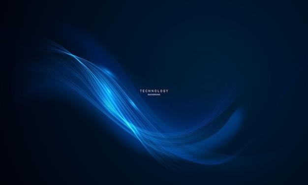 Abstracte blauwe poster als achtergrond met dynamisch. technologie netwerk vector illustratie.